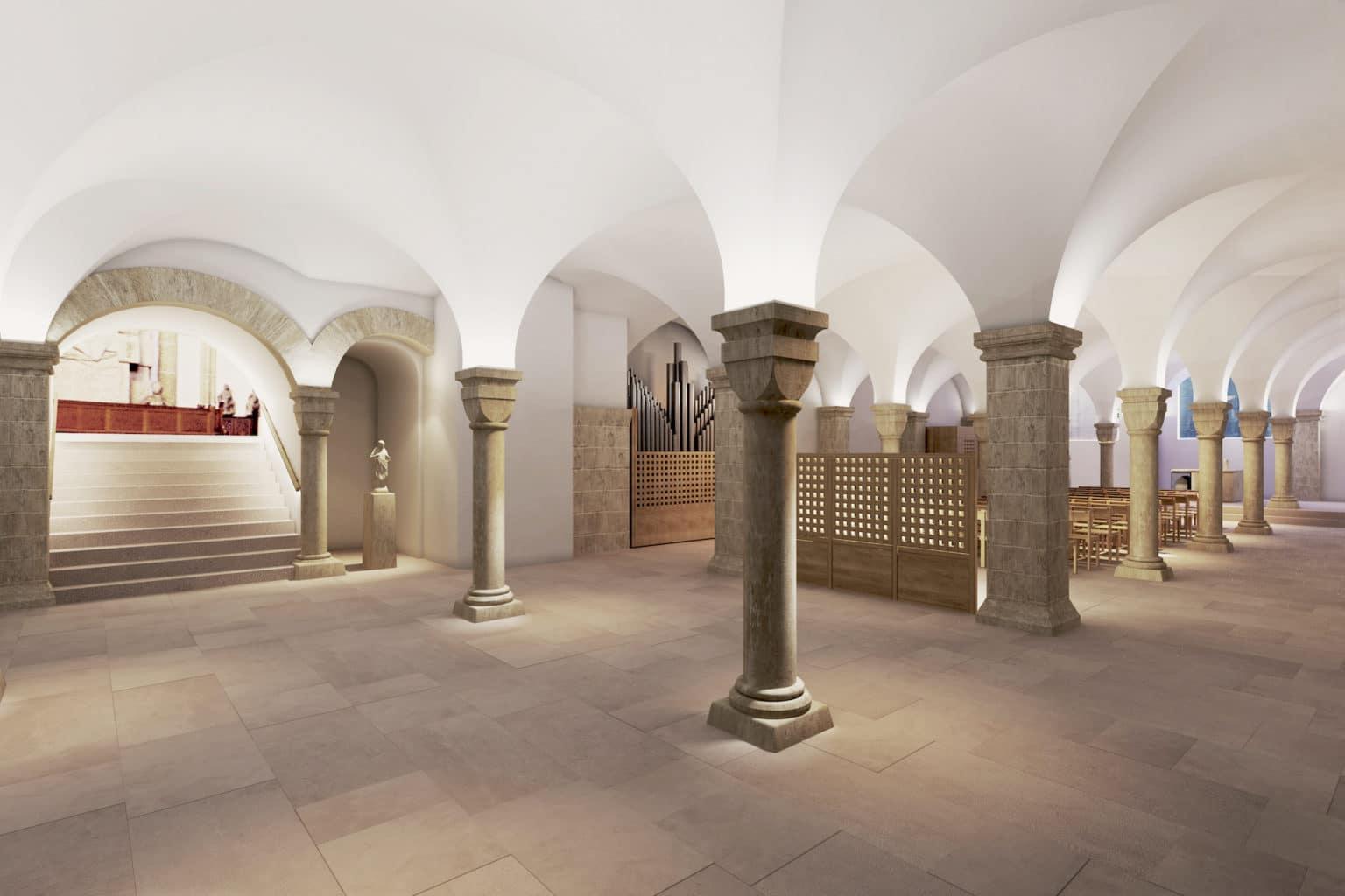 Visualisierung Umgestaltung der Krypta im Hohen Dom zu Paderborn